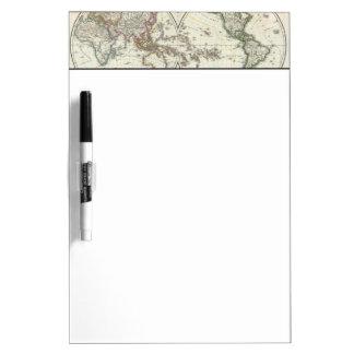 Mapa del atlas de París Tablero Blanco