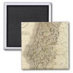 Mapa del atlas de Portugal Imán Cuadrado