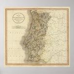 Mapa del atlas de Portugal Impresiones