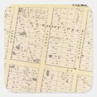 Mapa del atlas de Rhode Island Pegatina Cuadrada