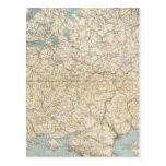 Mapa del atlas de Rusia y de Polonia Tarjeta Postal