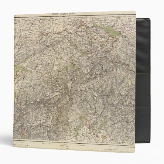 "Mapa del atlas de Suiza Carpeta 1 1/2"""