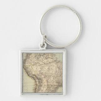 Mapa del atlas de Suramérica Llavero Personalizado