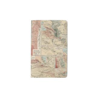 Mapa del atlas de Tieflander Funda Para Libreta Y Libreta Pequeña Moleskine