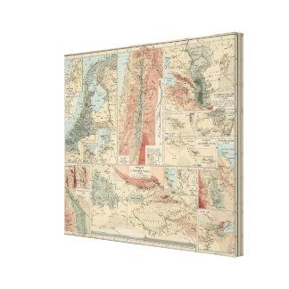 Mapa del atlas de Tieflander Lona Estirada Galerias