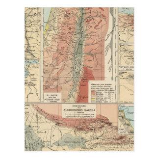 Mapa del atlas de Tieflander Tarjetas Postales