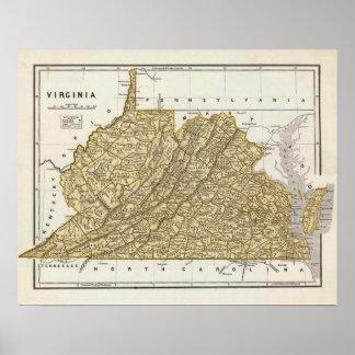 Mapa del atlas de Virginia Impresiones