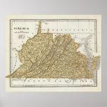 Mapa del atlas de Virginia Póster