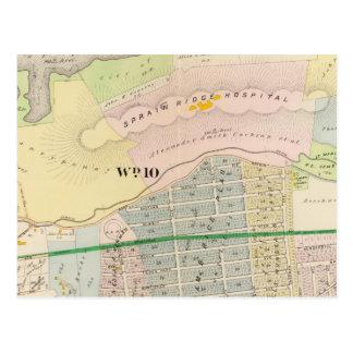 Mapa del atlas de Yonkers NY Tarjetas Postales