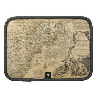 Mapa del atlas del americano de Thomas Jefferys 17 Planificador
