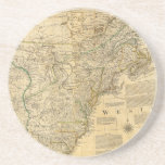Mapa del atlas del americano de Thomas Jefferys 17 Posavaso Para Bebida