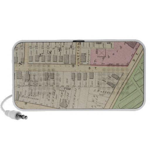 Mapa del atlas del cementerio de la iglesia de la  laptop altavoz