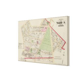 Mapa del atlas del cementerio de la iglesia de la impresiones en lona