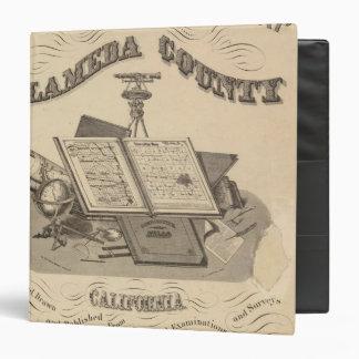 """Mapa del atlas del condado de Alameda de la página Carpeta 1 1/2"""""""
