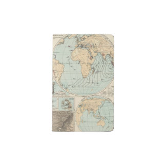 Mapa del atlas del DES Erdinnern de Thatigkeit Funda Para Libreta Y Libreta Pequeña Moleskine
