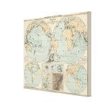 Mapa del atlas del DES Erdinnern de Thatigkeit Impresiones En Lienzo Estiradas