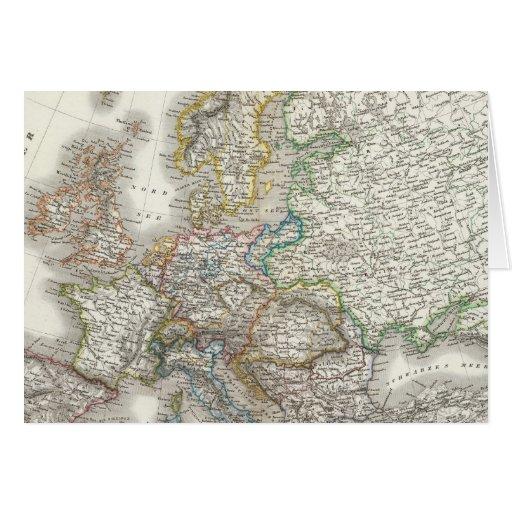 Mapa del atlas del Europa Tarjetón