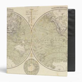 Mapa del atlas del hemisferio