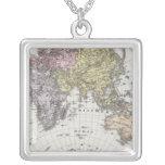 Mapa del atlas del hemisferio del este collares personalizados