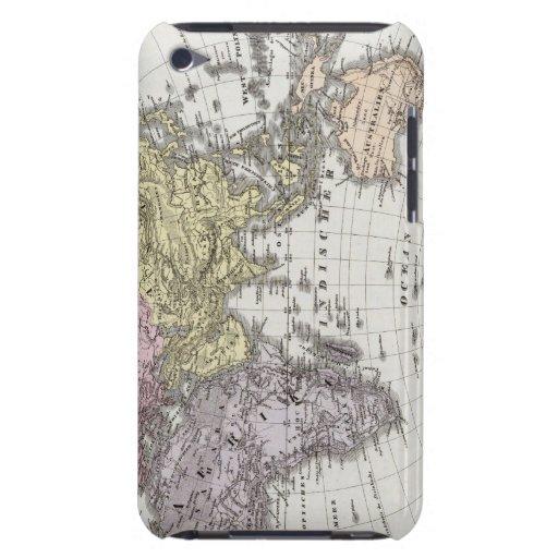 Mapa del atlas del hemisferio del este iPod touch cobertura