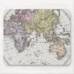 Mapa del atlas del hemisferio del este tapete de ratones