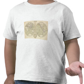 Mapa del atlas del hemisferio camisetas