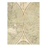 Mapa del atlas del hemisferio postales