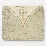 Mapa del atlas del hemisferio tapete de ratón