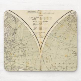 Mapa del atlas del hemisferio tapetes de ratón