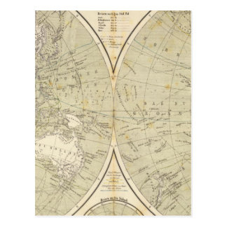 Mapa del atlas del hemisferio postal