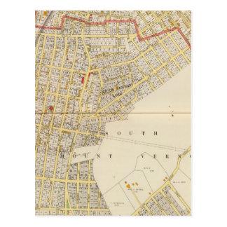 Mapa del atlas del Mt Vernon Tarjetas Postales