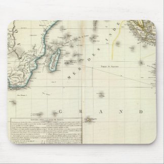 Mapa del atlas del Océano Índico Mousepads