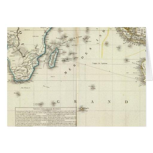 Mapa del atlas del Océano Índico Tarjeta De Felicitación