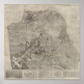 Mapa del atlas del plan de San Francisco Póster