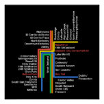 Mapa del BARONET de Hyperlinear (negro) Poster