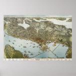 Mapa del birdseye de Seattle - 1891 (Koch) BigMapB Posters