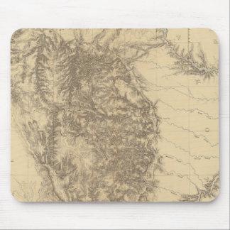 Mapa del Black Hills de Dakota Tapetes De Ratones