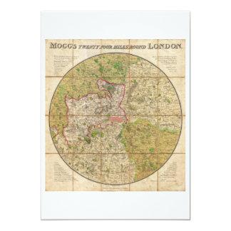 """Mapa del bolsillo 1820 o del caso de Mogg de Invitación 5"""" X 7"""""""