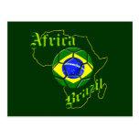 Mapa del Brasil África de los regalos de los Postal