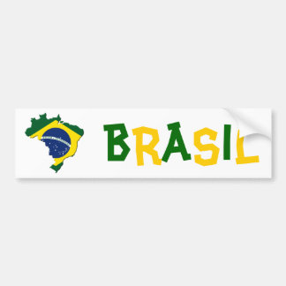 Mapa del Brasil Etiqueta De Parachoque