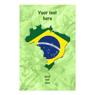 """Mapa del Brasil Folleto 5.5"""" X 8.5"""""""