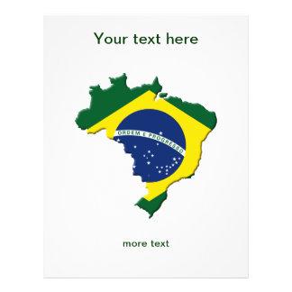 """Mapa del Brasil Folleto 8.5"""" X 11"""""""