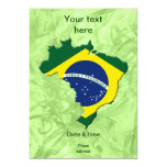 Mapa del Brasil Invitación 12,7 X 17,8 Cm