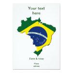"Mapa del Brasil Invitación 5"" X 7"""
