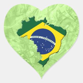 Mapa del Brasil Pegatina En Forma De Corazón