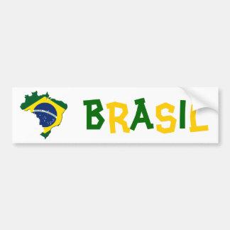 Mapa del Brasil Pegatina Para Auto