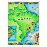 Mapa del Brasil Tarjeta De Felicitación