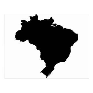 Mapa del Brasil Tarjetas Postales