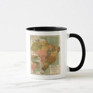 Mapa del Brasil Taza