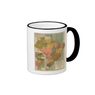 Mapa del Brasil Tazas De Café